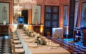Diner privé dans la salle à manger du Château de Malmaison