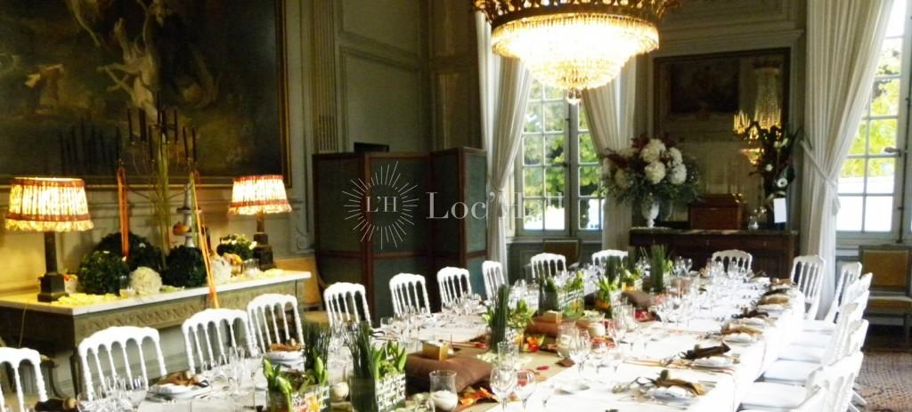 Privatisation du Château de Bouges pour des diners