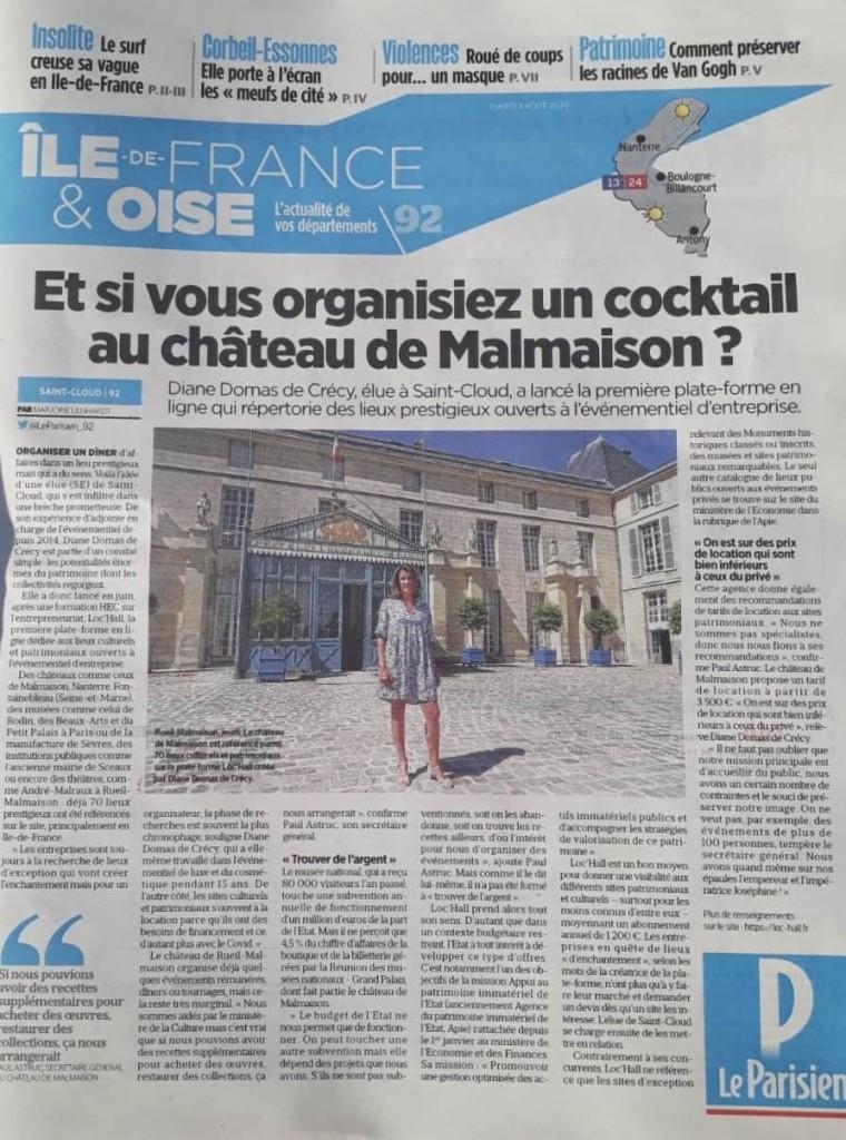 Article Loc'Hall dans Le Parisien