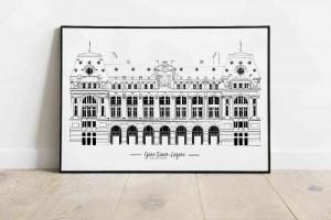 Gare saint Lazare Illustration de Patrimoine