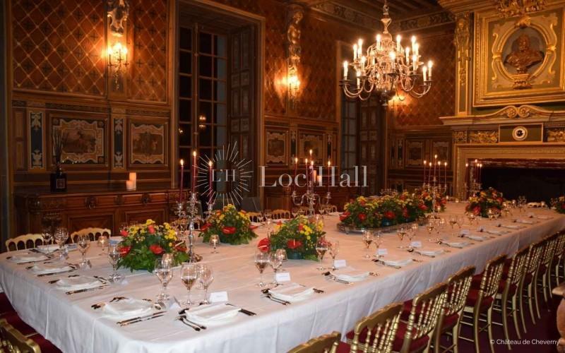 Château de Cheverny réception prestige salle à manger du château